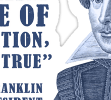 Franklin Internet Quote Sticker