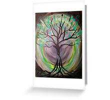 As above so below - Tree art Greeting Card
