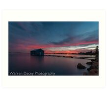 crawley bay sunset  Art Print