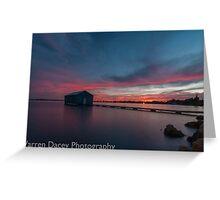 crawley bay sunset  Greeting Card