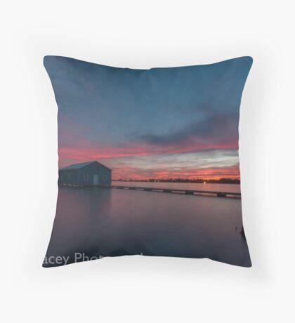 crawley bay sunset  Throw Pillow