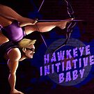 Pinup-Hawkeye by WheelOfFortune