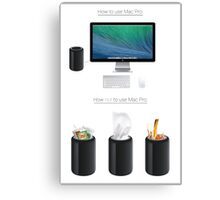 Mac Pro Instructions Canvas Print