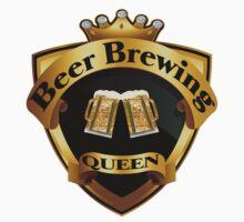 Golden Beer Brewing Queen Crown Crest by FireFoxxy