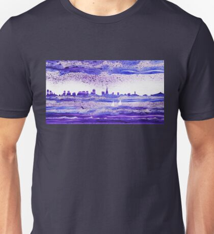 San Francisco Blues City Skyline Unisex T-Shirt