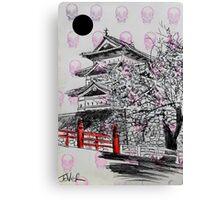 temple (stamp) Canvas Print