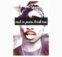 """Rest In Peace,loved one."" Tupac Shakur Hippy shirt  by DopeDesigns"