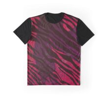 Zebra pattern Shaka Zulu red Graphic T-Shirt