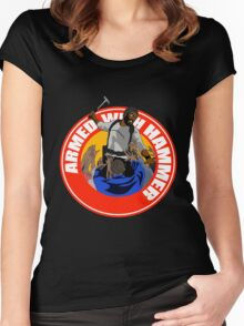 Armed With Hammer Women's Fitted Scoop T-Shirt
