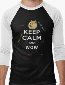Keep Calm and DOGE Men's Baseball ¾ T-Shirt