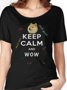 Keep Calm and DOGE Women's Relaxed Fit T-Shirt