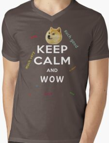 Keep Calm and DOGE Mens V-Neck T-Shirt
