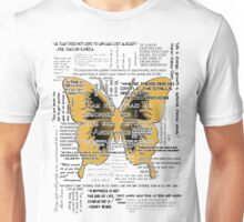 Quotes as Light as Butterfly Wings Unisex T-Shirt
