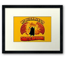 Chaotic Awesome Framed Print