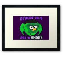 Angry Birds Hulk Framed Print