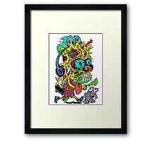 Toxic Bart Framed Print