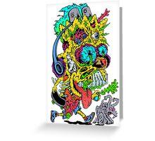 Toxic Bart Greeting Card