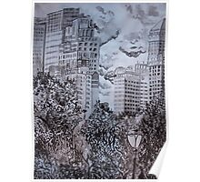 City from Central Park Poster