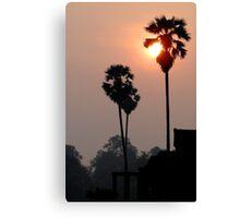 Dawn breaks at Angkor Wat Canvas Print