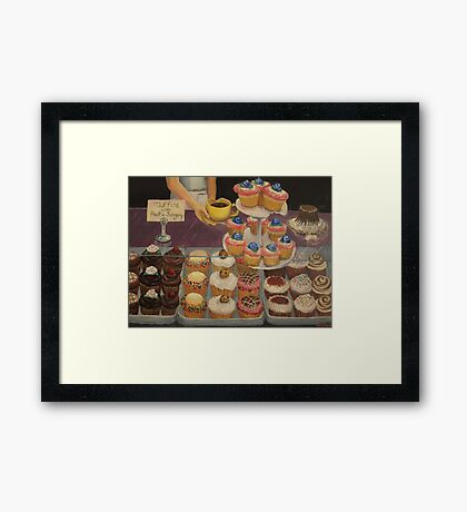 Muffins with Plastic Surgery Framed Print
