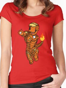 Iron-Charmander Women's Fitted Scoop T-Shirt