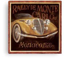 Vintage Car - Gold Canvas Print