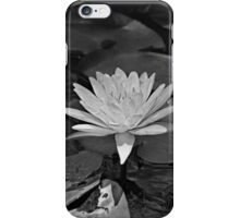 Black and White Water Lily iPhone Case/Skin