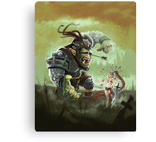 Orc problems Canvas Print