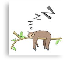 Sleeping sloth Canvas Print