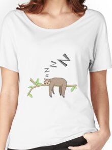 Sleeping sloth Women's Relaxed Fit T-Shirt