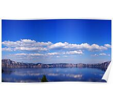 North Rim Of Crater Lake Poster
