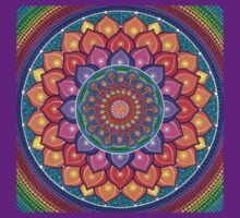 Lotus Rainbow Mandala T-Shirt