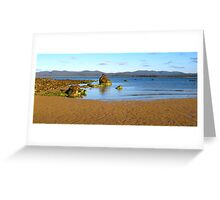 Rock Cluster, Hawley Beach, Northern Tasmania overlooking Narawntapu National Park Greeting Card