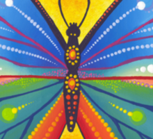 rainbow vibrant butterfly Sticker
