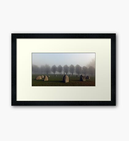 Millennium Stone Circle in the Fog Framed Print