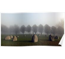 Millennium Stone Circle in the Fog Poster