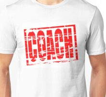 Coach red rubber stamp effect Unisex T-Shirt