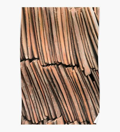 Stacked Roof Tiles Poster