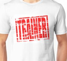 Trainer red rubber stamp effect Unisex T-Shirt
