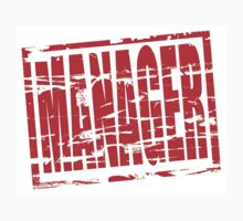 Manager red rubber stamp effect by stuwdamdorp
