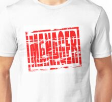 Manager red rubber stamp effect Unisex T-Shirt