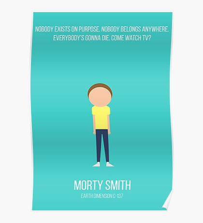 Minimalist Morty Smith Poster