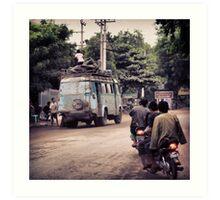 Bus About Burma Art Print