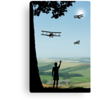 Childhood Dreams - The Flypast Canvas Print