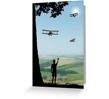 Childhood Dreams - The Flypast Greeting Card