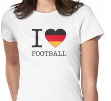 I ♥ GERMAN FOOTBALL Womens Fitted T-Shirt