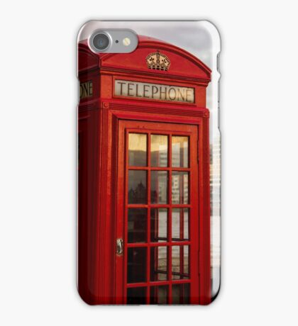 Red Telephone Booth iPhone Case/Skin