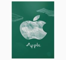 Apple logo white green by sundaydesign