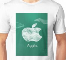Apple logo white green Unisex T-Shirt