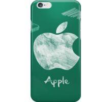 Apple logo white green iPhone Case/Skin